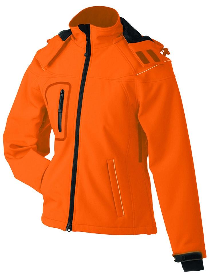 Zimní dámská softshellová bunda JN1001 - Oranžová | S