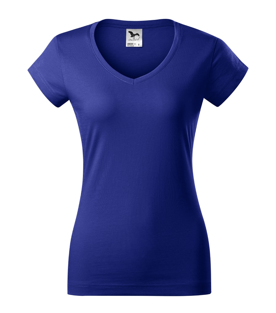 Dámské tričko Fit V-neck - Královská modrá | L