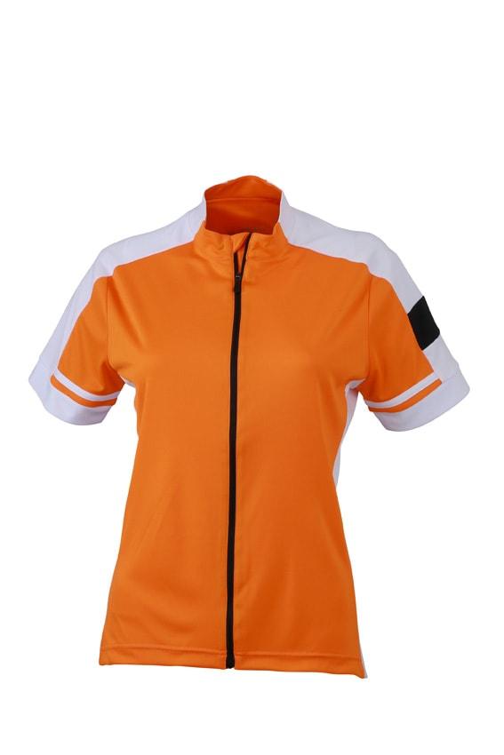 Dámský cyklistický dres JN453 - Oranžová | XL