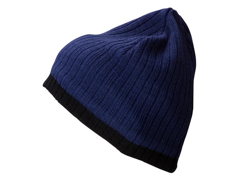 Zimní čepice MB7102 - Modrá / černá