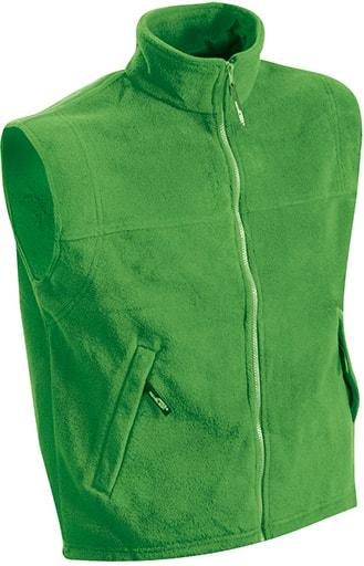 Pánská fleecová vesta JN045 - Limetkově zelená | XXXL