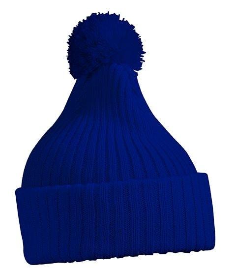 Pletená čepice s bambulí MB7540 - Tmavě modrá | uni