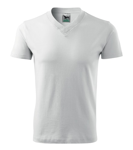 Pánské tričko V-neck Adler - Bílá | M