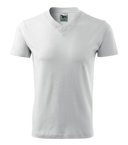Pánské tričko V-neck Adler - Bílá | XL