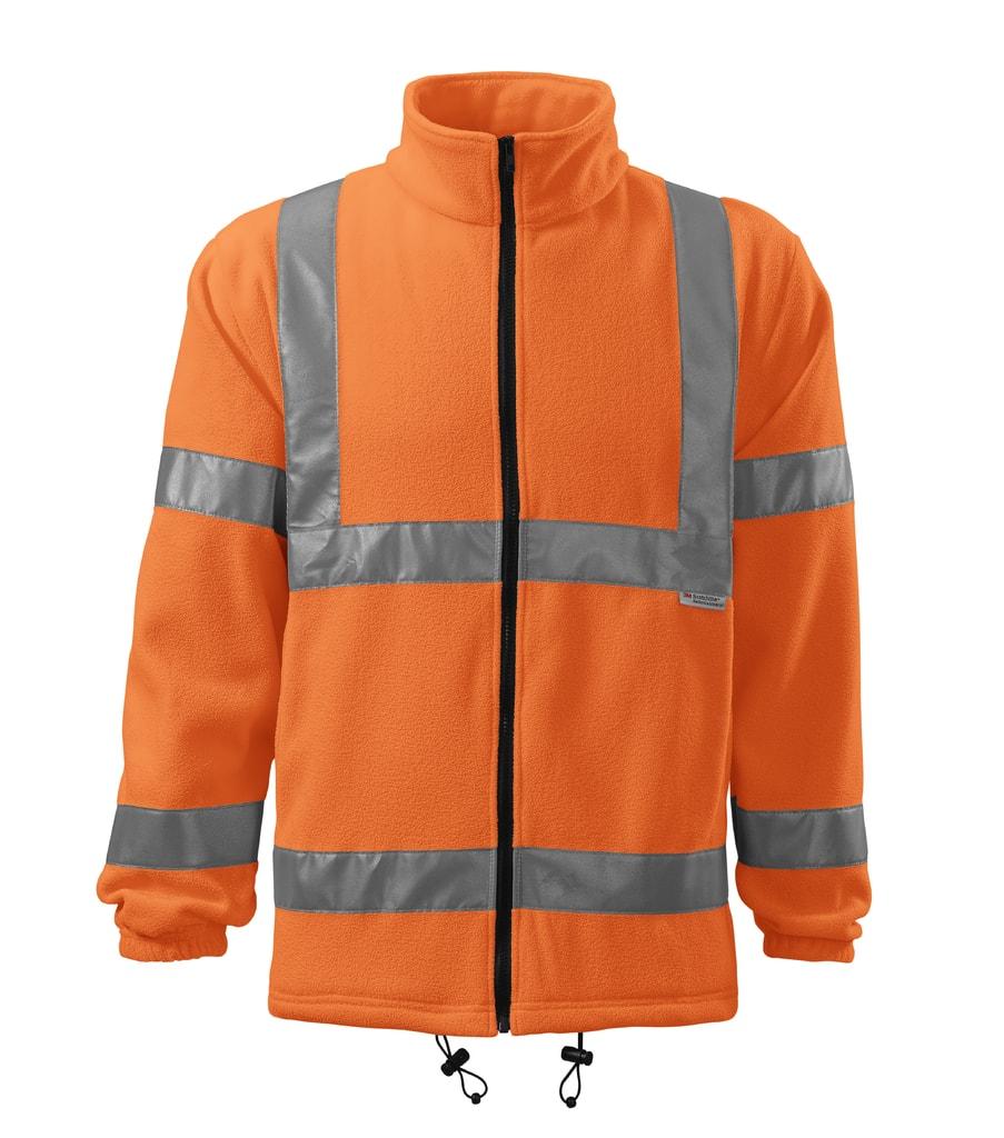 Reflexní fleecová mikina High visibility - Reflexní oranžová   XL