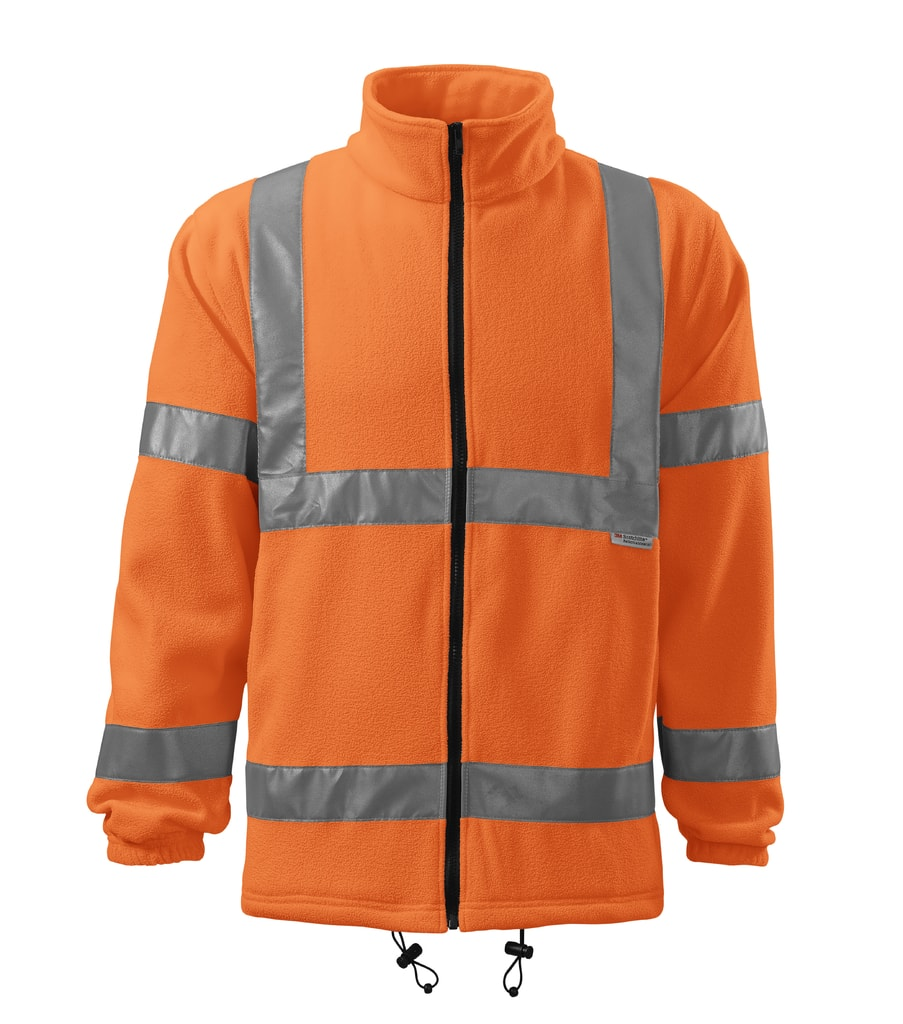 Reflexní fleecová mikina High visibility - Reflexní oranžová   XXL