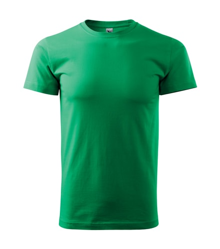 Pánské tričko HEAVY - Středně zelená | XXXL