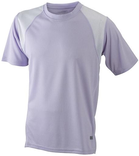 Dětské sportovní tričko s krátkým rukávem JN397k - Šeříková / bílá | XL