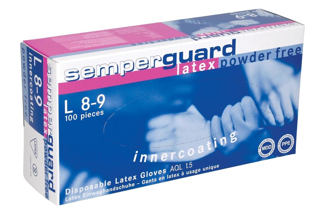 Latexové rukavice nepudrované - 8