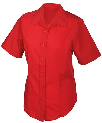 Dámská košile s krátkým rukávem JN603 - Červená   M