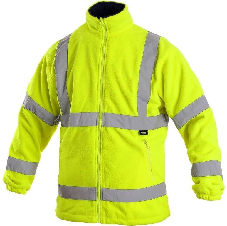 Pánská výstražná bunda PRESTON - Žlutá | XXXL