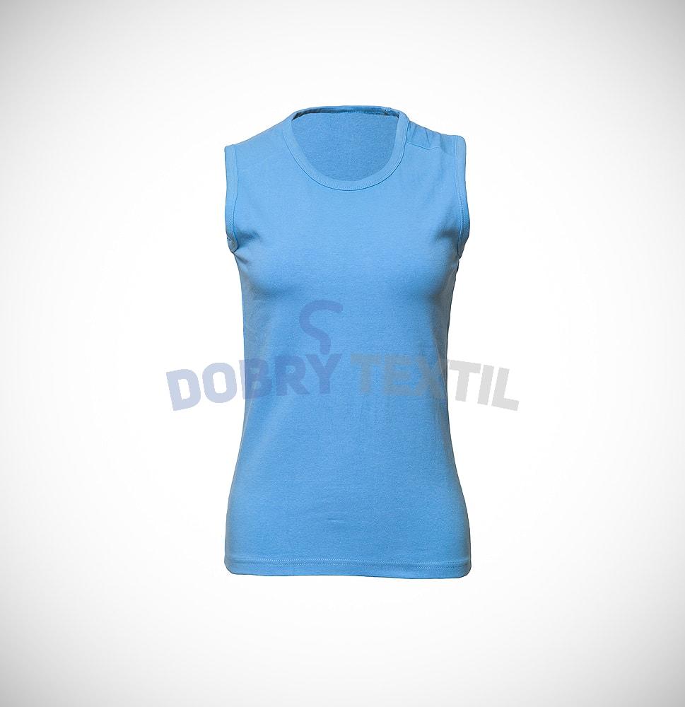 Dámské tričko bez rukávů - Světle modrá | XL