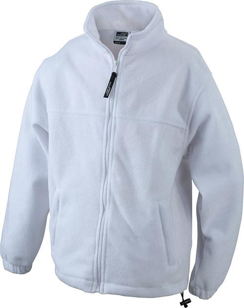 Dětská fleece mikina JN044k - Bílá | S