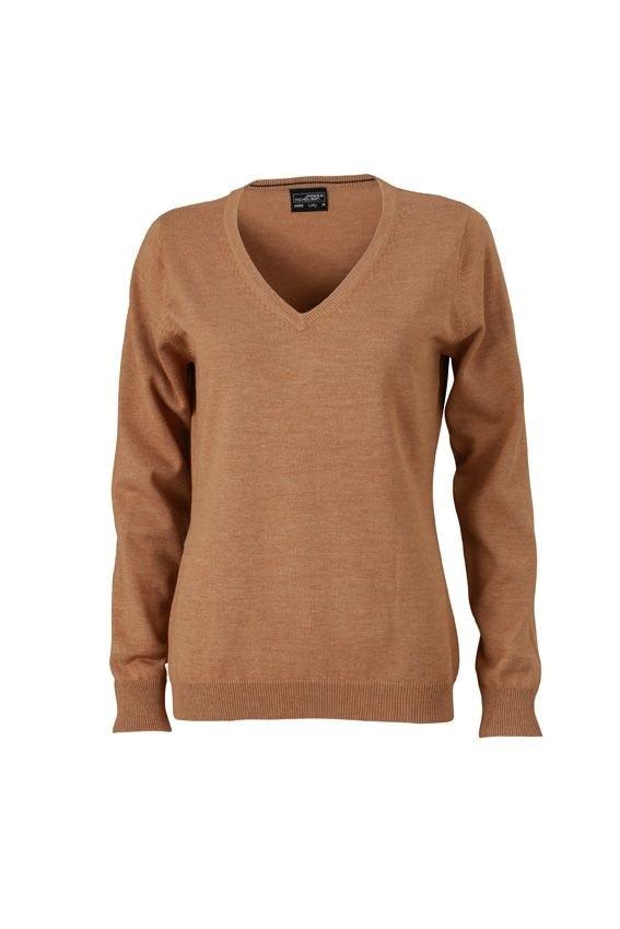 Dámský bavlněný svetr JN658 - Camel | XL
