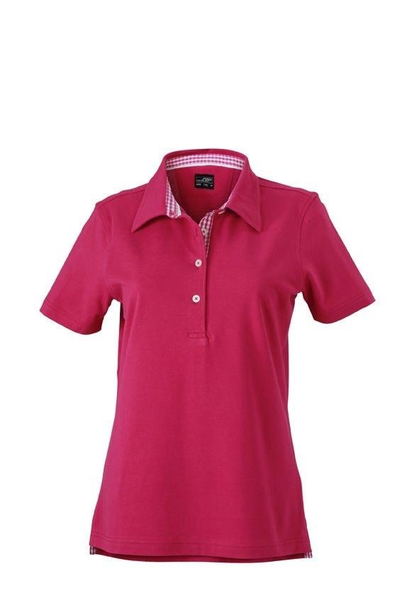 Elegantní dámská polokošile JN969 - Fialová / fialovo-bílá | L