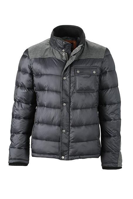 James & Nicholson Pánska zimná bunda JN1100 - Uhlově černá | XXL