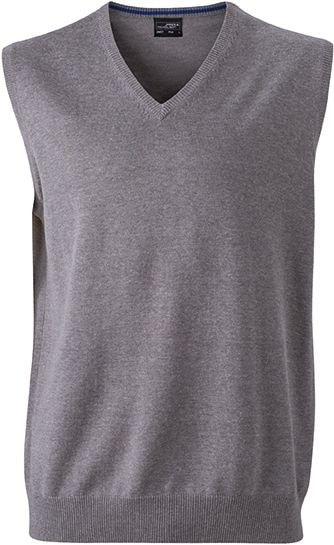 Pánský svetr bez rukávů JN657 - Šedá | XL