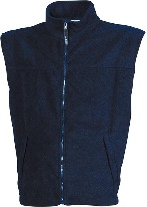 Pánská fleecová vesta JN045 - Tmavě modrá | XXXL