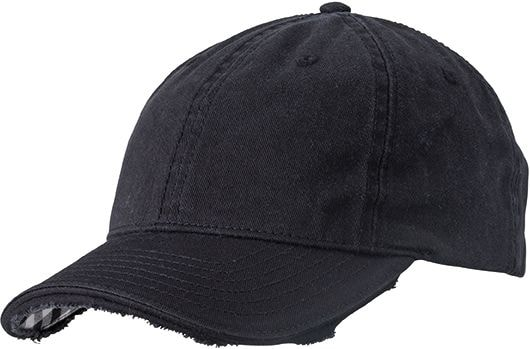 Bavlněná kšiltovka Club MB6568 - Černá / bílá | uni