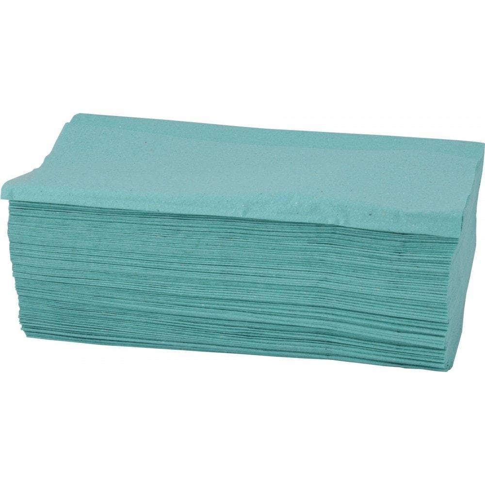 Skládané papírové ručníky - zelená