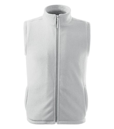 Fleecová vesta Adler - Bílá | S