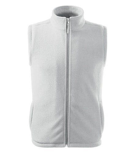Fleecová vesta Next - Bílá | XL