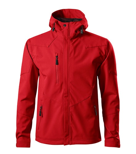 Pánská softshellová bunda Nano - Červená | XXXL