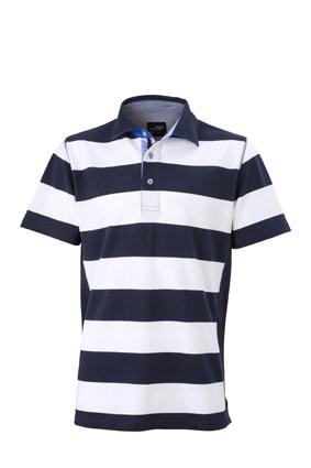 Pánská námořnická polokošile JN984 - Tmavě modrá / bílá | XXXL