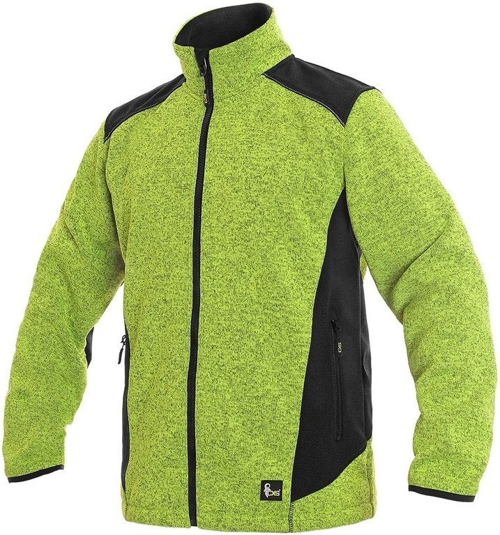 Pánská bunda GARLAND - Světle zelená / černá | M