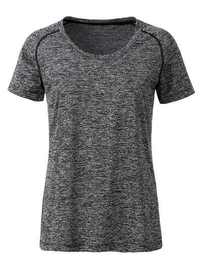 Dámské funkční tričko JN495 - Černý melír / černá | M