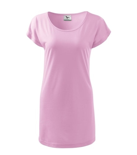 Dámské dlouhé tričko - Růžová | XL