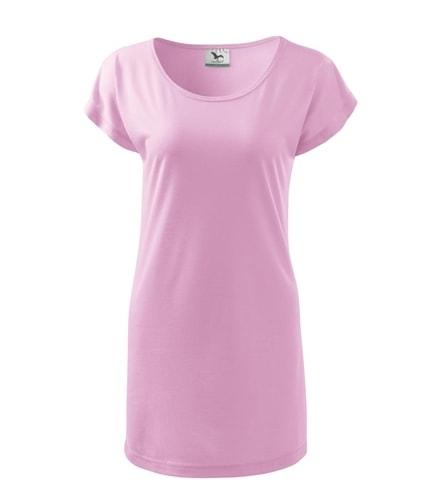 Dámské dlouhé tričko - Růžová | XXL