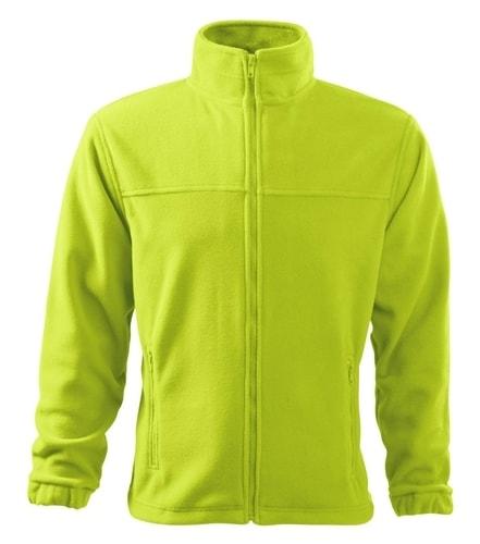 Pánská fleecová mikina Jacket - Limetková | XL