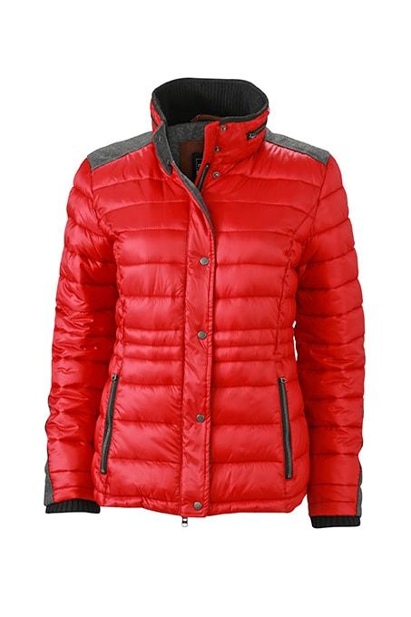 Dámská zimní bunda JN1099 - Červená | XXL