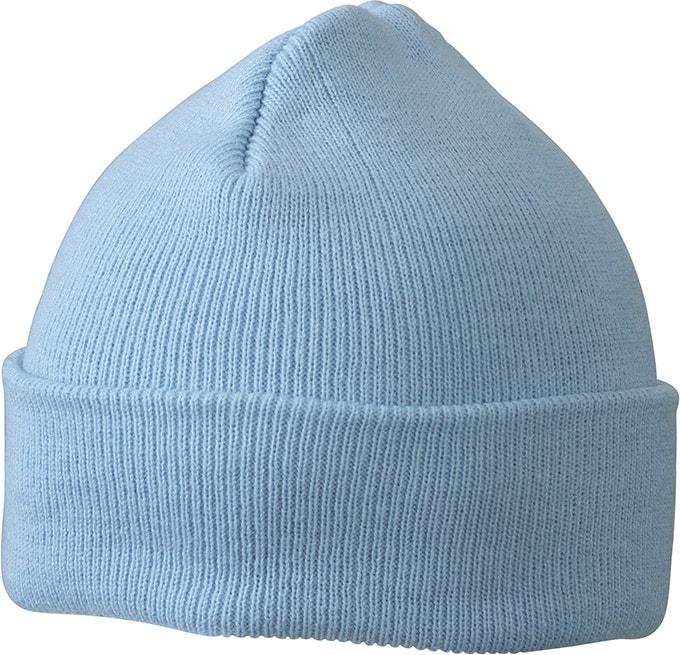 Pletená zimní dětská čepice MB7501 - Světle modrá | uni dětská