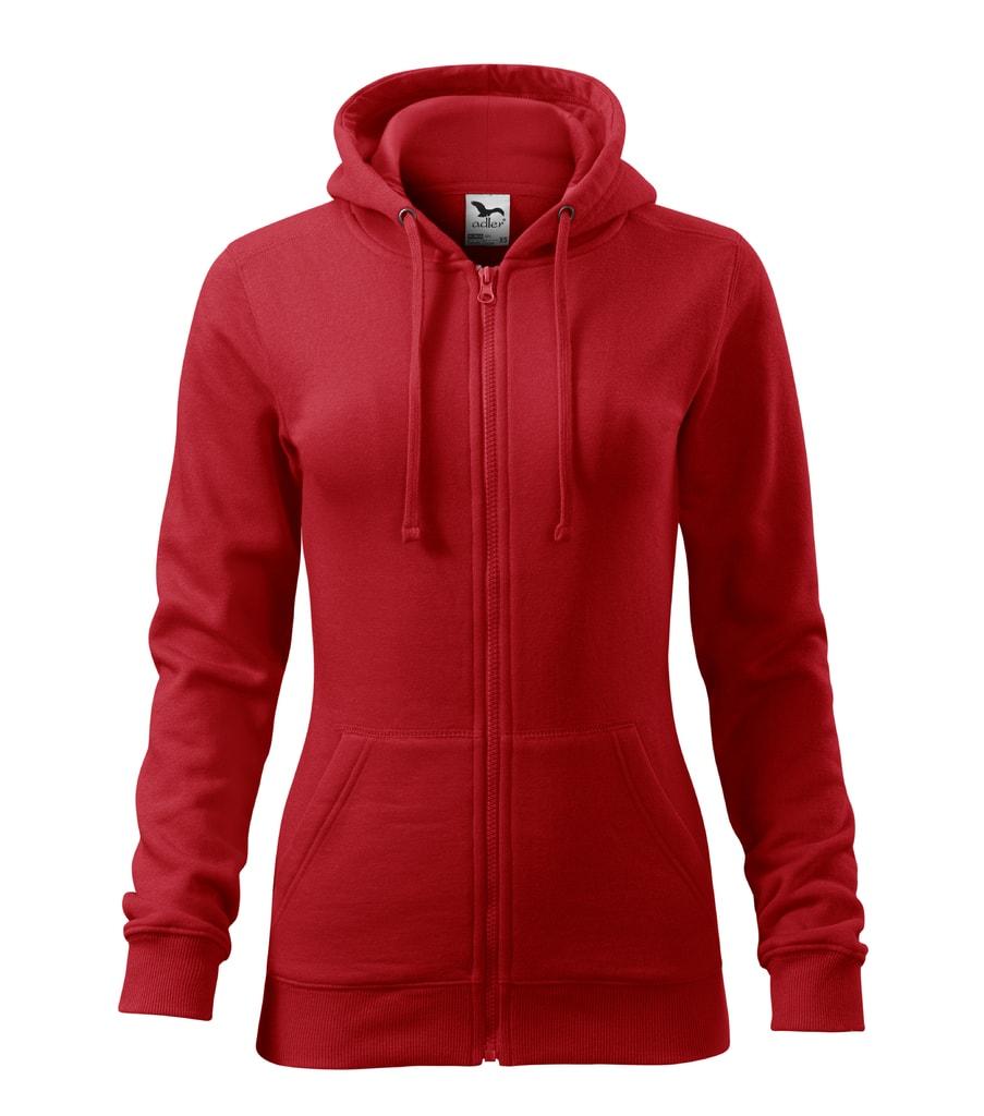 Dámská mikina s kapucí Trendy - Červená | XL