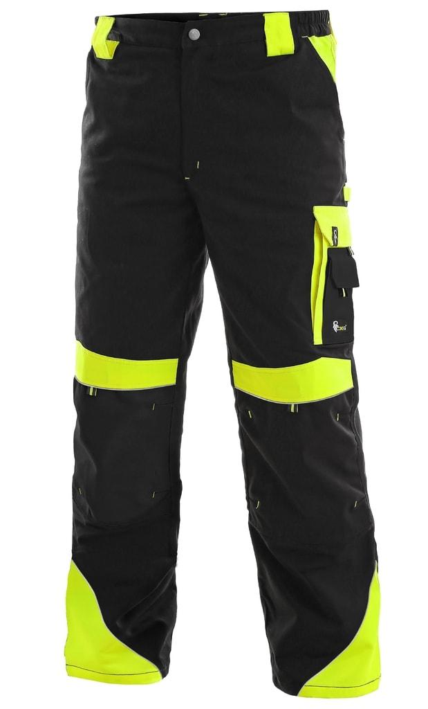 Pracovní kalhoty SIRIUS BRIGHTON - Černá / žlutá | 64