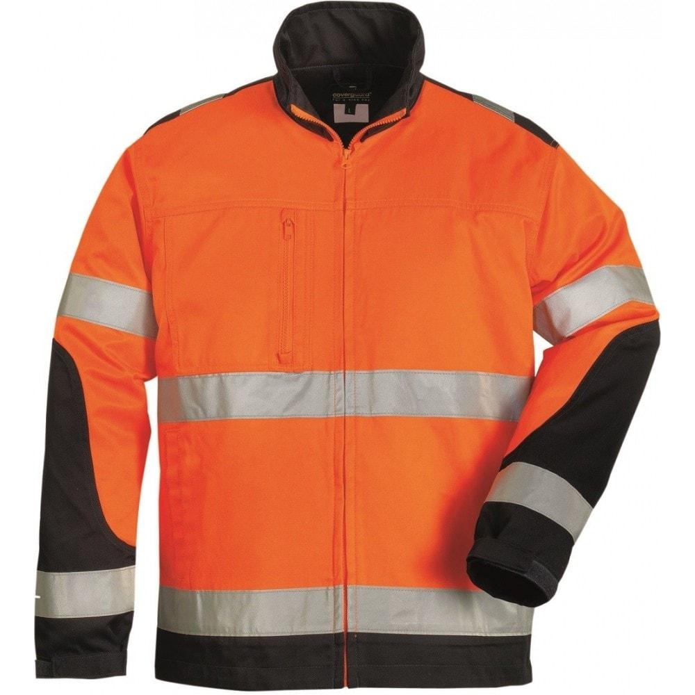 Reflexní bunda s límečkem Patrol - Oranžová | L