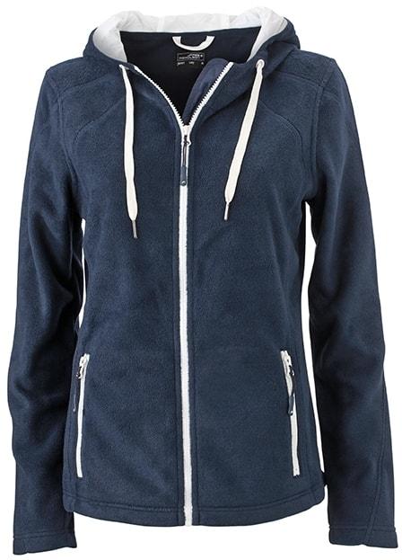2c55cf023cc ... Dámská fleecová mikina s kapucí JN997 Tmavě modrá   šedo-bílá