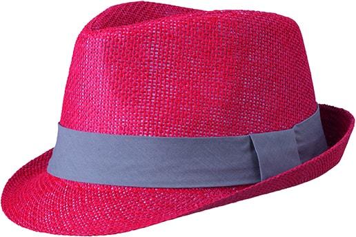 Letní klobouk MB6564 Letní klobouk MB6564 Červená   tmavě šedá 6fc8128a82