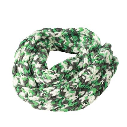 0ea0e282e75 Pletená šála MB7981 (Zelená   bílá