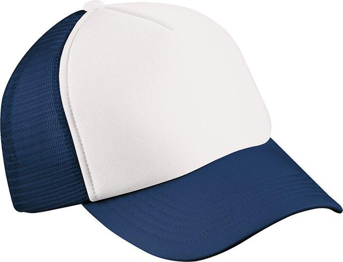 d05aff1ca69 Dětská 5 panelová kšiltovka MB071 (Bílá   tmavě modrá