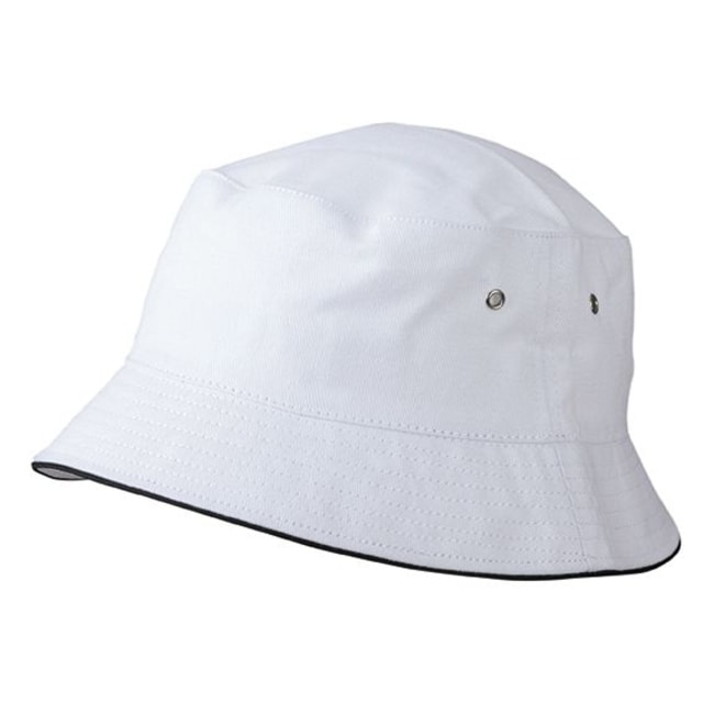 3cfc9b231d4 Bavlněný klobouk MB012 (Bílá   tmavě modrá