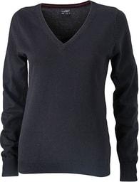 Dámský bavlněný svetr JN658 - Černá | XXL