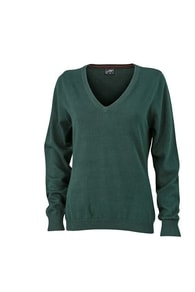 Dámský bavlněný svetr JN658 - Forest | L