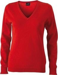Dámský bavlněný svetr JN658 - Oranžová | S