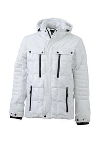 Sportovní pánská zimní bunda JN1102 - Bílá | XXL