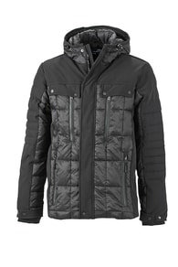 Sportovní pánská zimní bunda JN1102 - Černá | M
