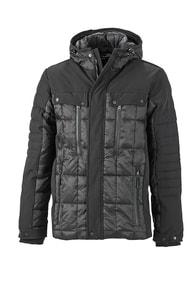 Sportovní pánská zimní bunda JN1102 - Černá | XXL