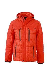 Sportovní pánská zimní bunda JN1102 - Tmavě oranžová | S